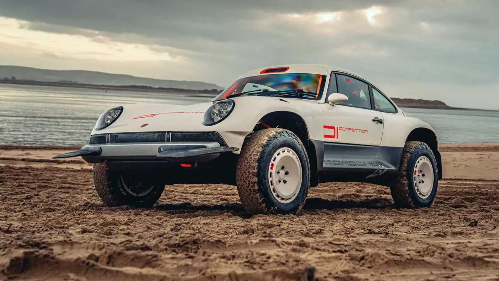 Singer All-Terrain Competition Study Porsche 911 Safari Nose Up Beach