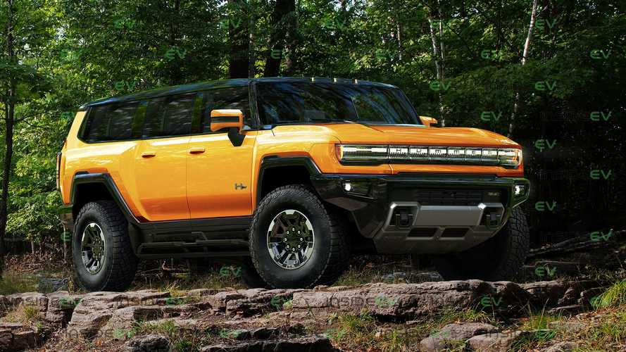 Here's The GMC Hummer EV SUV Rendered In Several Colors