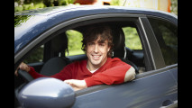 Fernado Alonso sulla Fiat 500 TwinAir