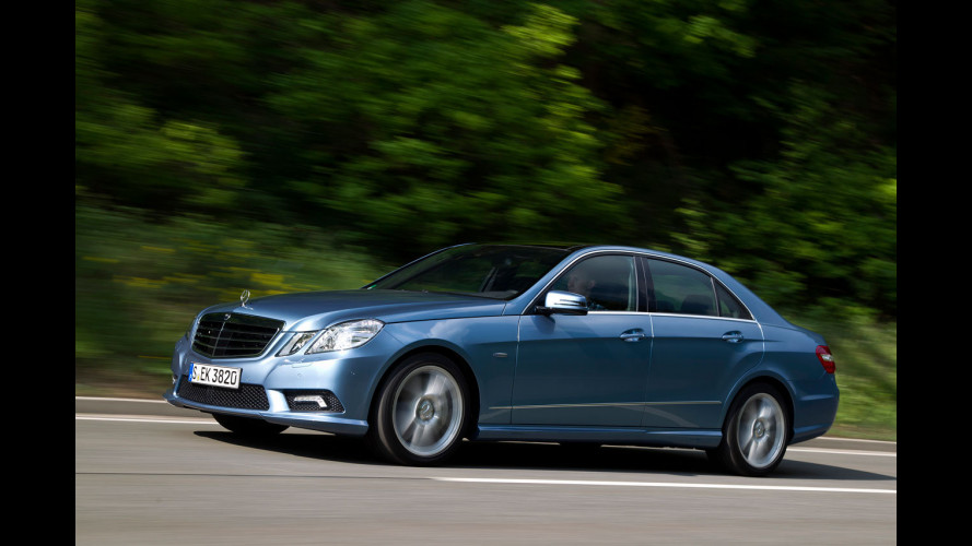 Mercedes Classe E BlueEFFICIENCY su strada
