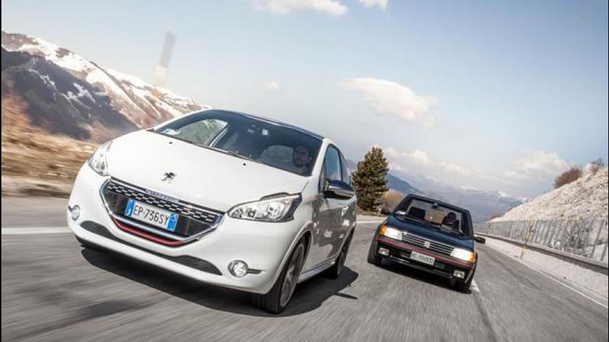 Peugeot 208 GTi e 205 GTi Gutmann: guidare è bello, come una volta.. [VIDEO]