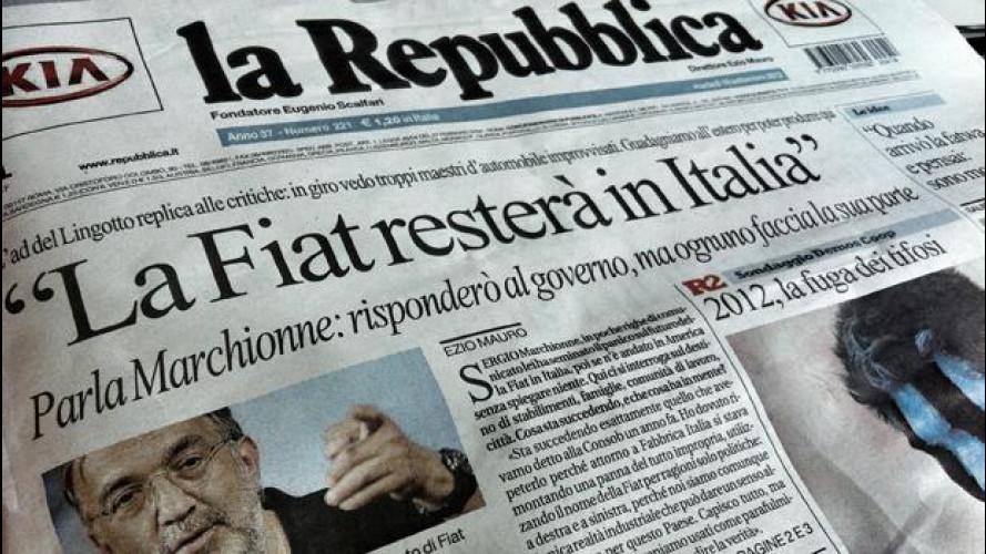 """Marchionne: """"Sfruttare la ripresa USA per mantenere la Fiat in Italia"""""""