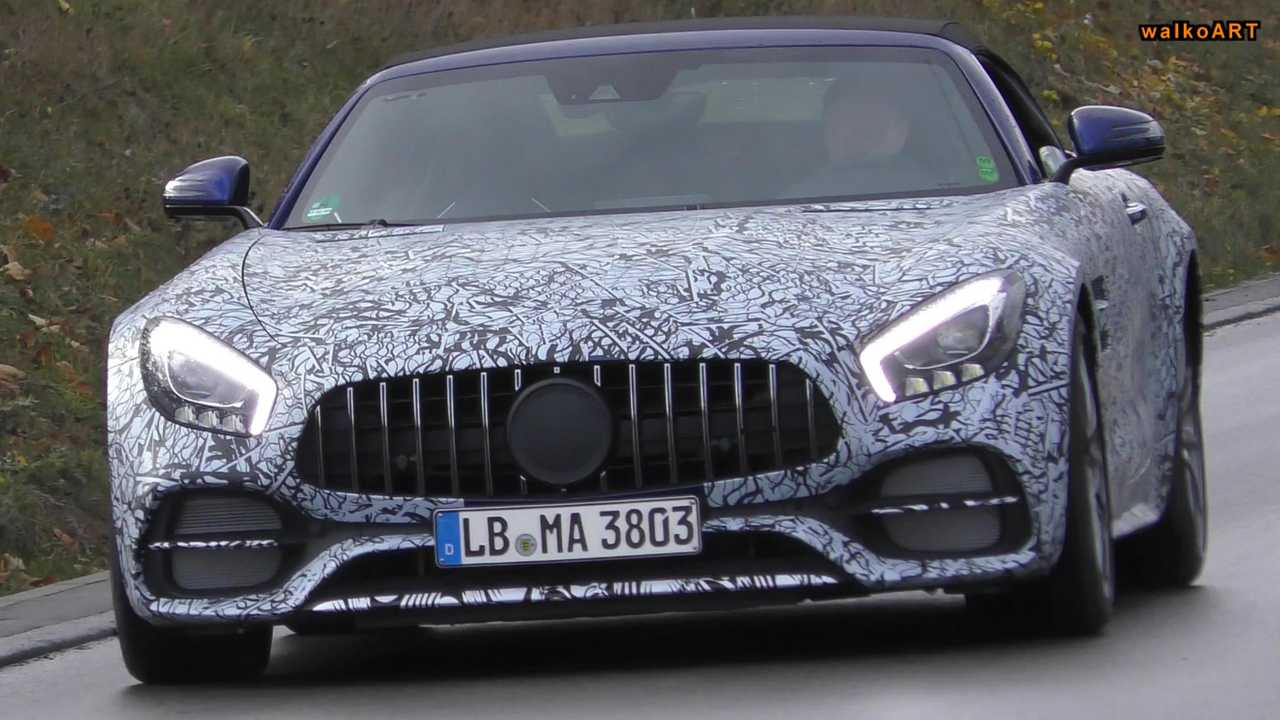 Mercedes-AMG GT Convertible Stacked Exhaust Spy Video