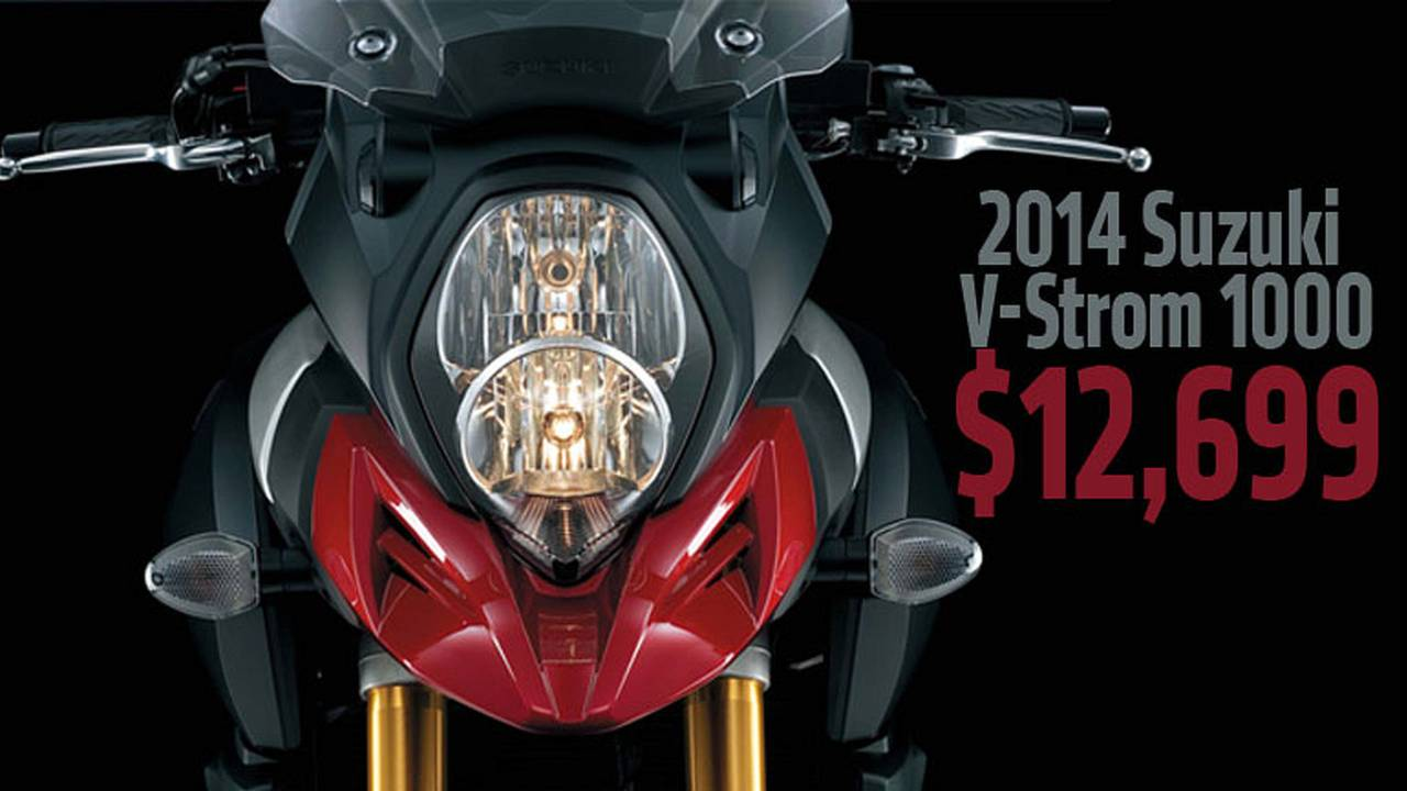 2014 Suzuki V-Strom 1000 Price Announced at $12,699