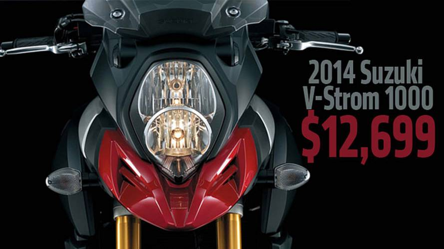 2014 Suzuki V-Strom 1000 Price Announced at $12,699