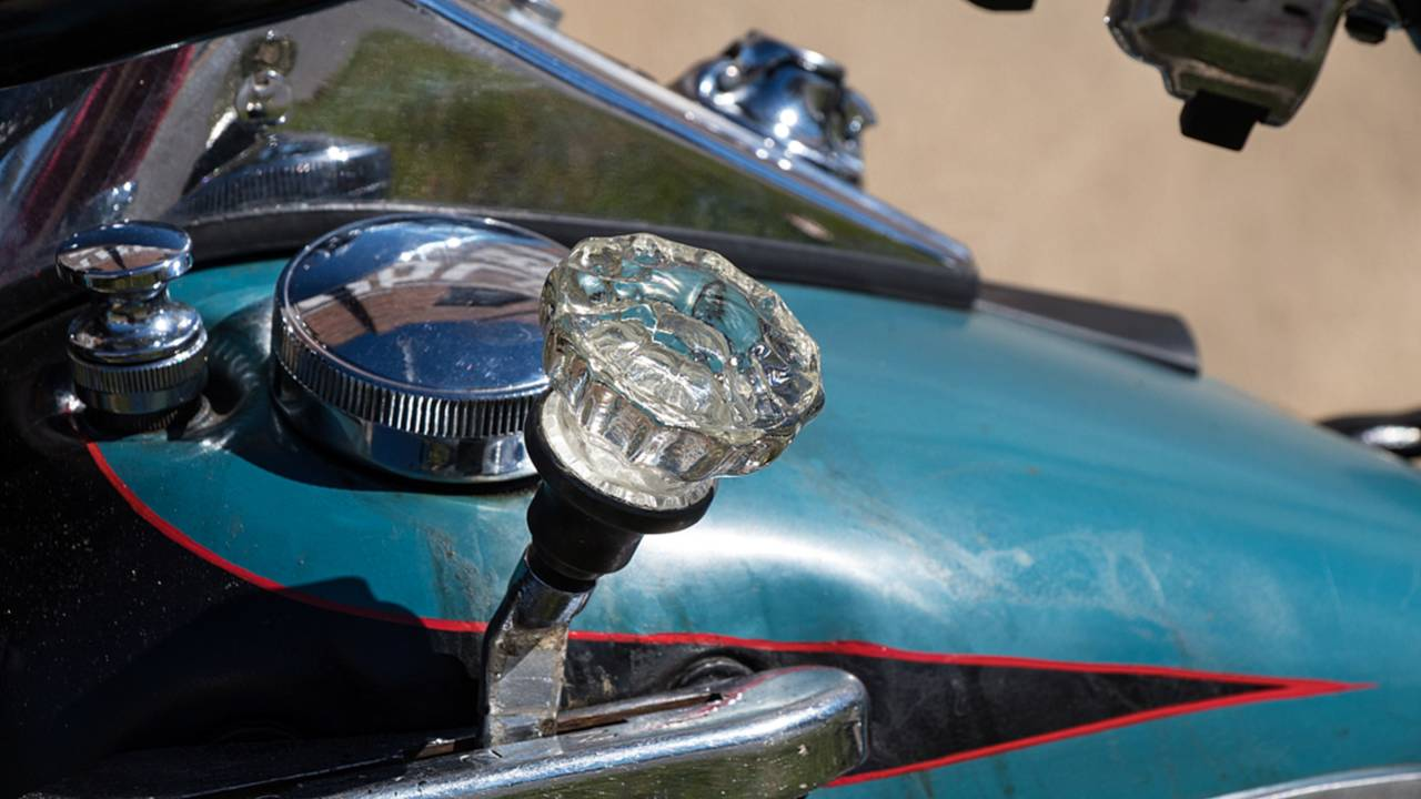 <strong>The shifter ball is actually an antique glass door knob from the owner's home.</strong>