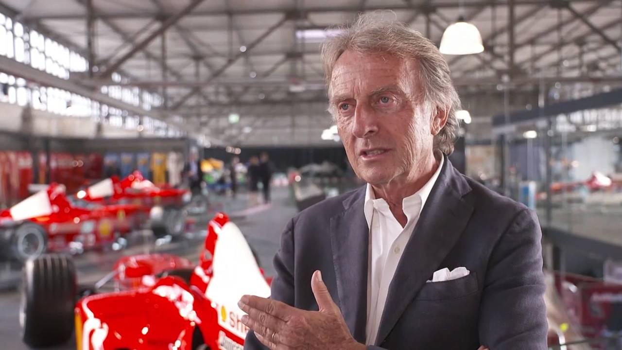 Montezemolo, intervista al museo Schumacher