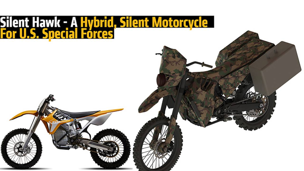 Silent Hawk - A Hybrid, Silent Motorcycle For U.S. Special Forces