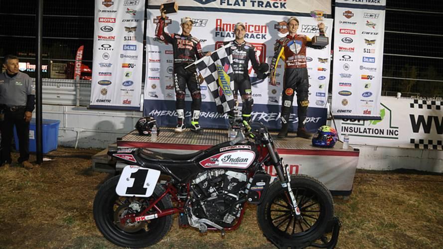 Indian Motorcycle Racing Sweeps Podium at Calistoga Half-Mile