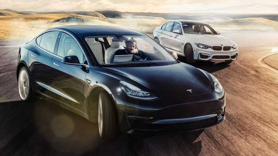 Tesla Model 3 Takes On BMW M3 At The Track: Video