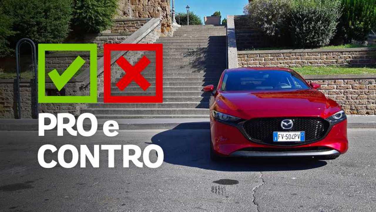 Mazda3 2.0 Skyactiv-G Mazda Hybrid 6 MT Exclusive, pro e contro