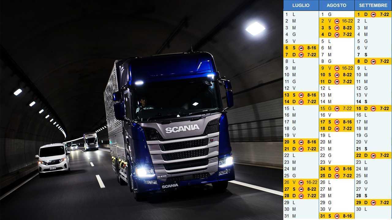 Calendario Circolazione Autocarri 2019.Divieti Di Circolazione Camion Estate 2019