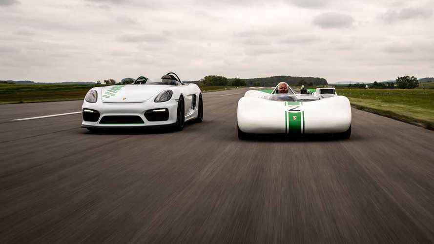 Porsche Boxster Bergspyder meets its ancestor