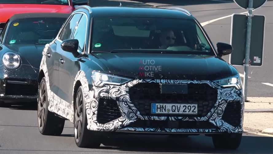 Audi RS Q3 spied making very angry noises at the Nürburgring