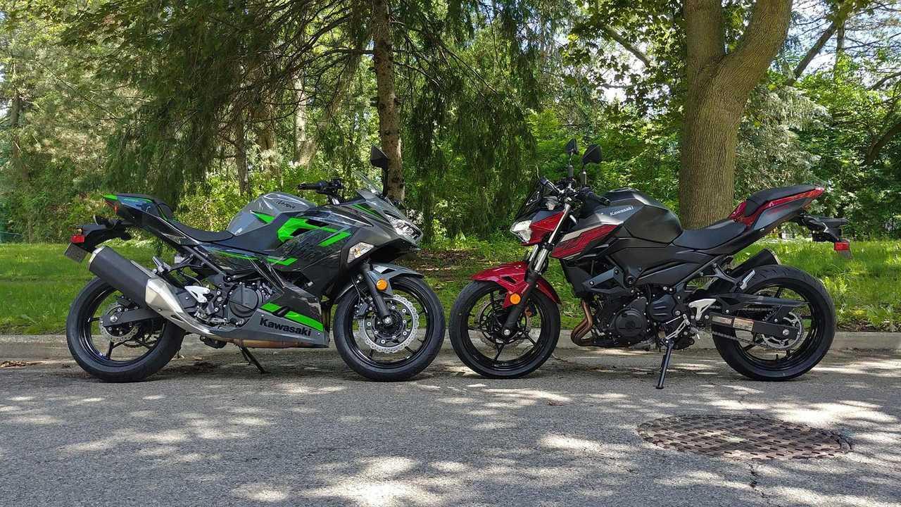2019 Kawasaki Z400 vs Ninja 400
