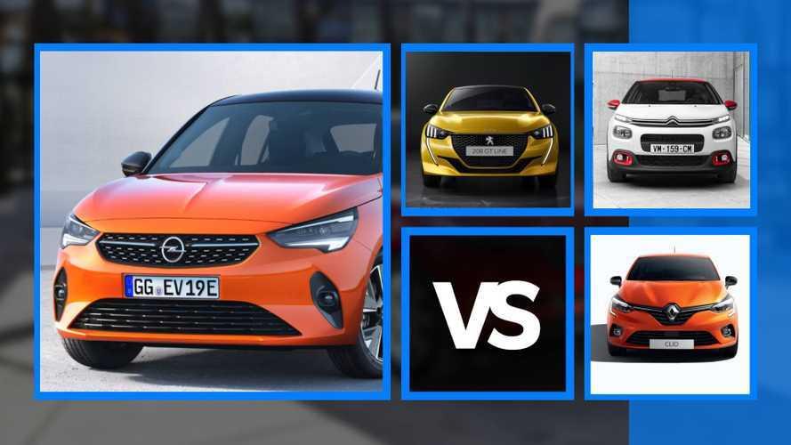 Opel Corsa, faccia a faccia con le rivali