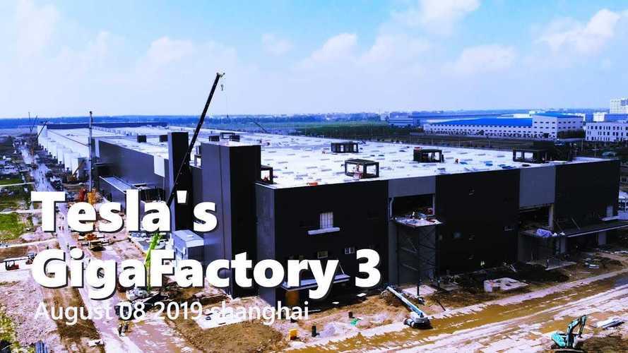 Tesla Gigafactory 3 Construction Progress August 8, 2019: Video