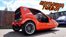 insane hayabusa powered three wheeler