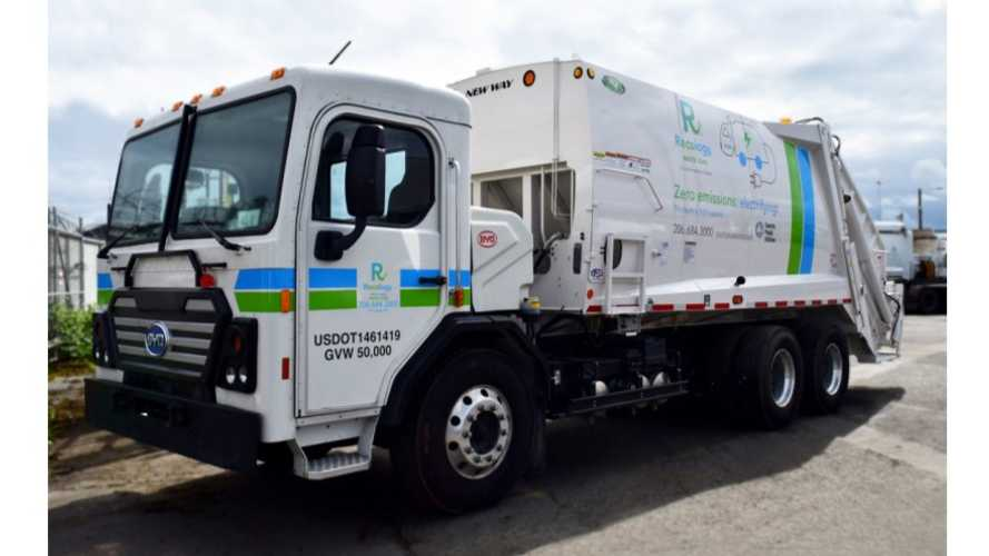 BYD Deploys U.S.' First Electric Class-8 Rear Loader Refuse Truck