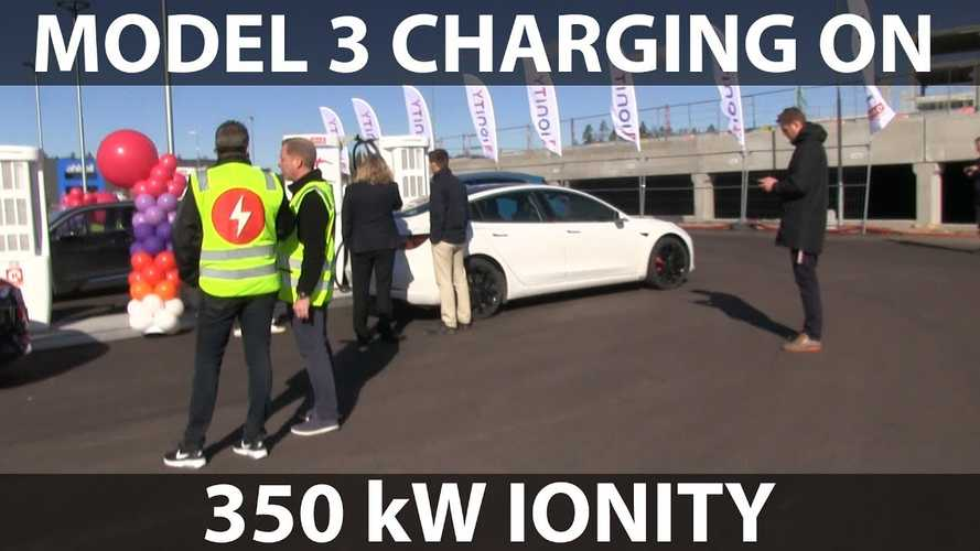Tesla Model 3 Charging At IONITY Charger: Video