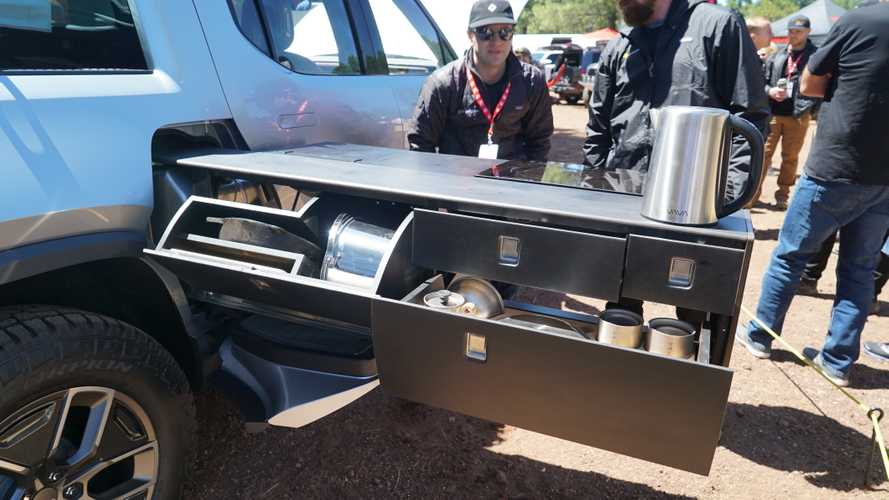 Rivian R1T Pull-Out Kitchen Is Real, Will Be Optional