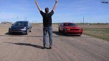 Tesla Model 3, Challenger Hellcat ve AMG CLS 53 drag yarışı
