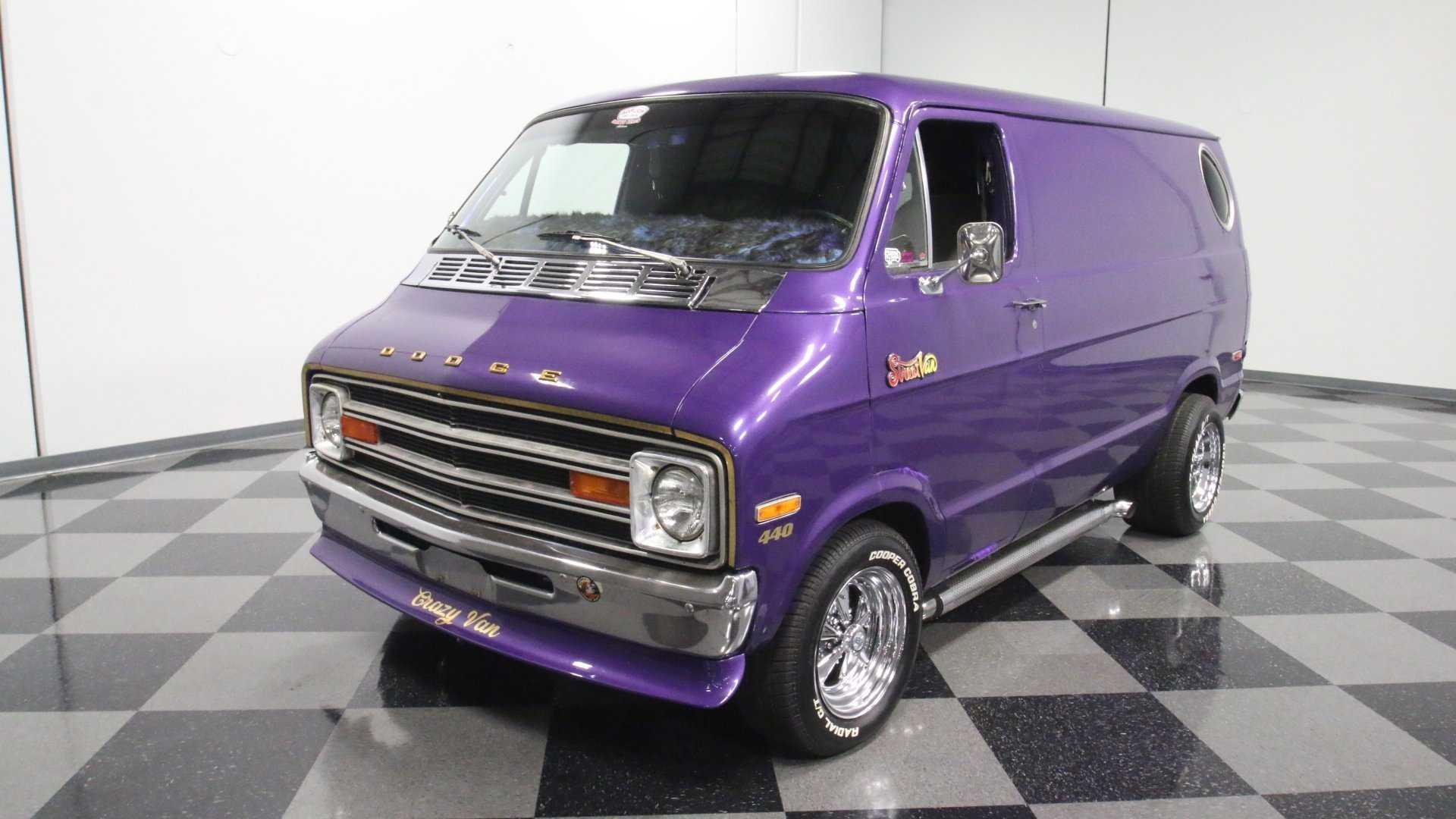 1976 Dodge B-100 'Crazy Van' Will Put You In A Purple Haze