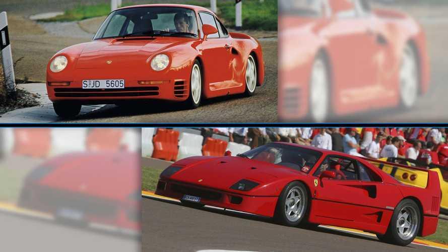 Ferrari F40 vs. Porsche 959: dos superdeportivos míticos, en cifras