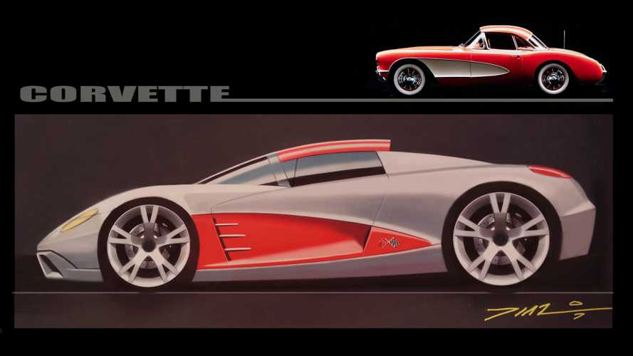 What If The Mid-Engine Corvette Were Retro-Inspired By The '57 Model?