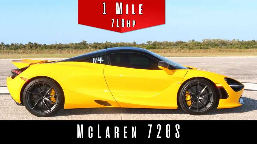 Watch McLaren 720S hit 194 mph in standing mile speed test