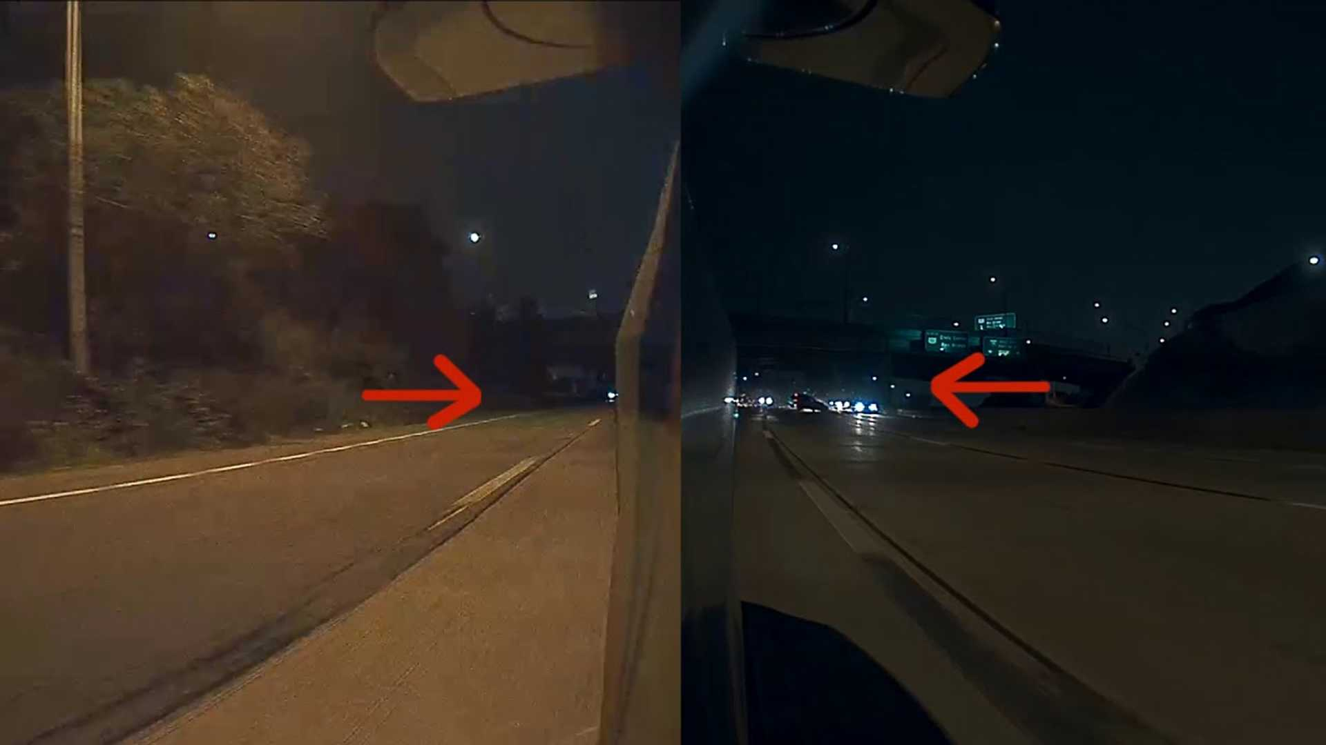 Tesla Dashcam Captures Crazy Multi-Car Spinout Crash: Video
