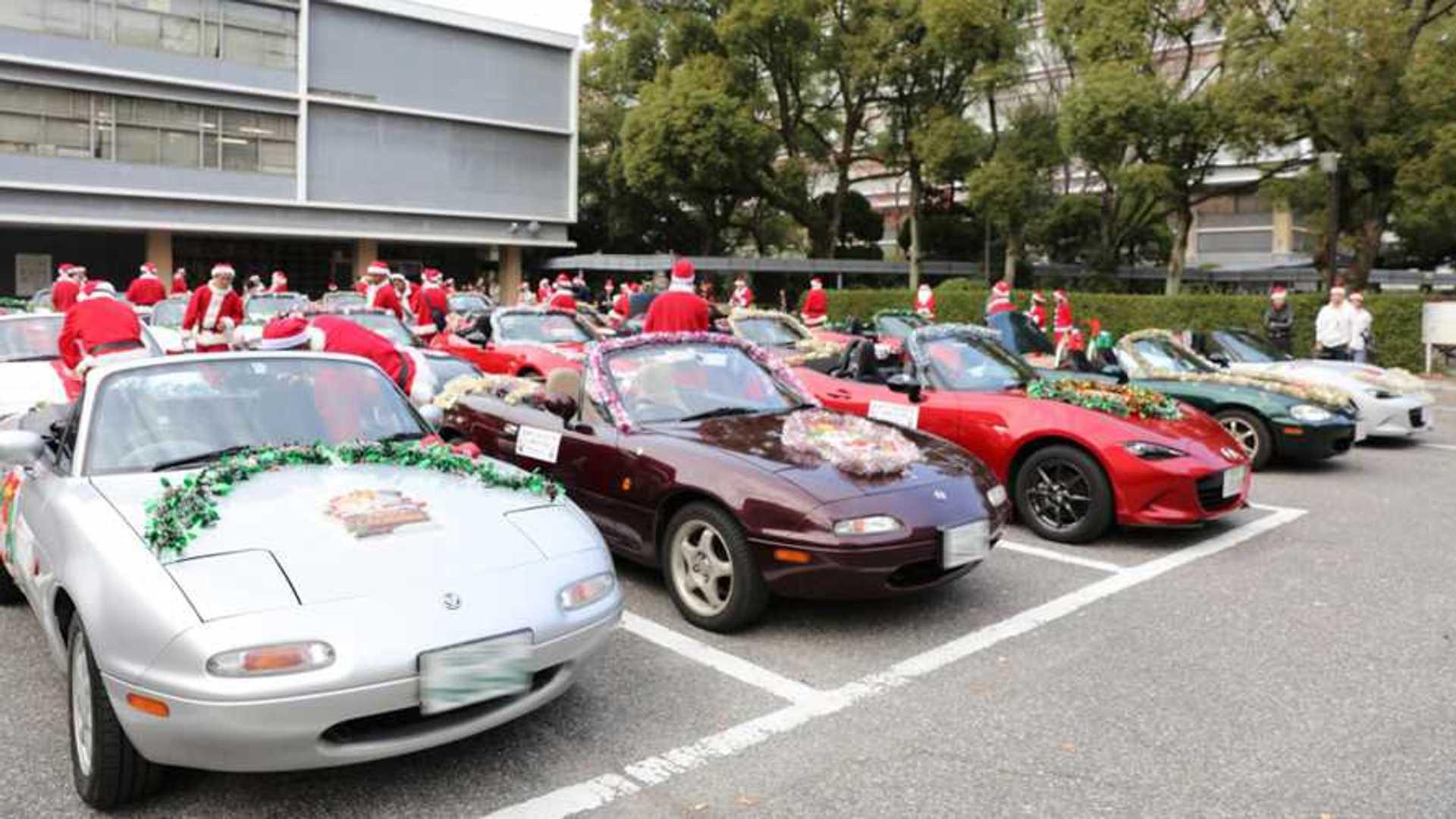 Santa Swaps Sleigh For Miata To Spread Joy In Japan