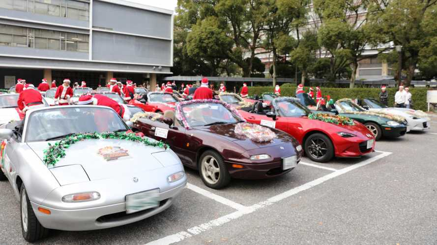 Santa Swaps Sleigh For Miata To Spread Joy In Japan