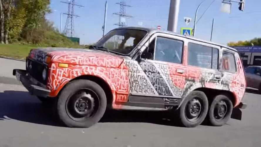 Lada Niva 6x6 érkezett Oroszországból