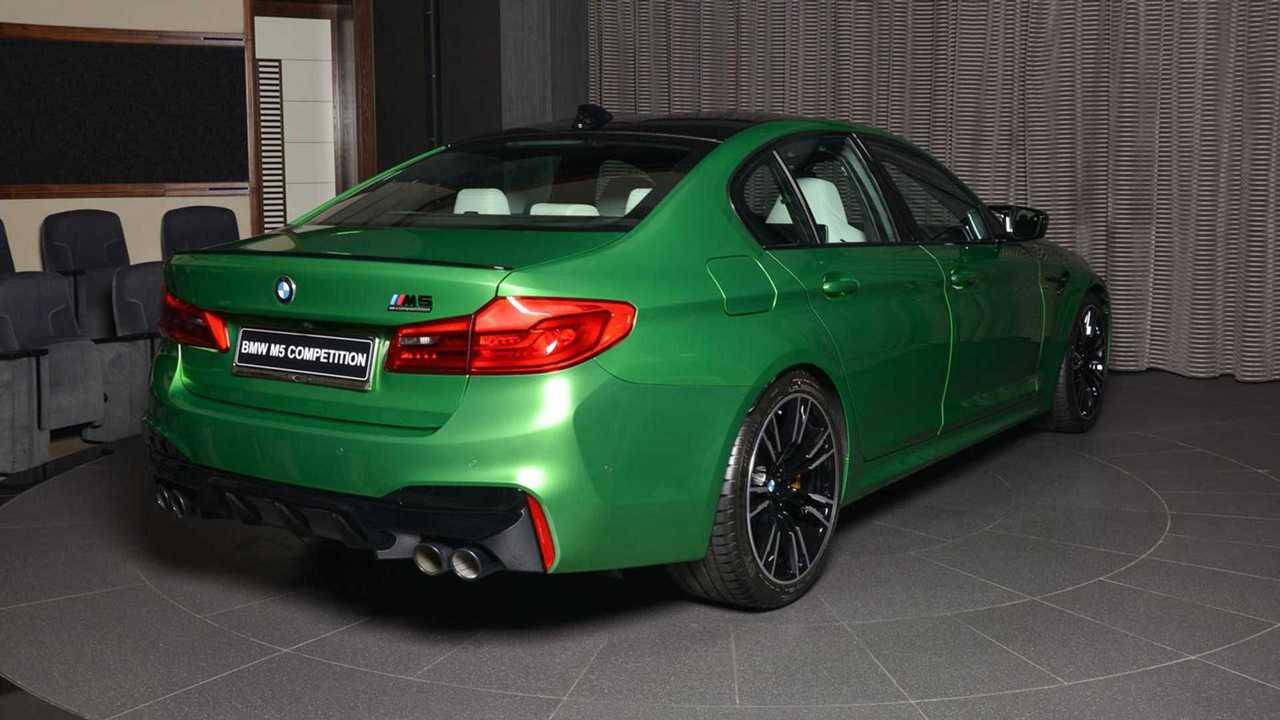 BMW M5 versenyverseny zöld