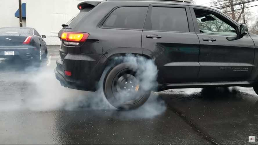 Jeep Trackhawk Rips RWD Burnouts By Simply Pulling A Fuse