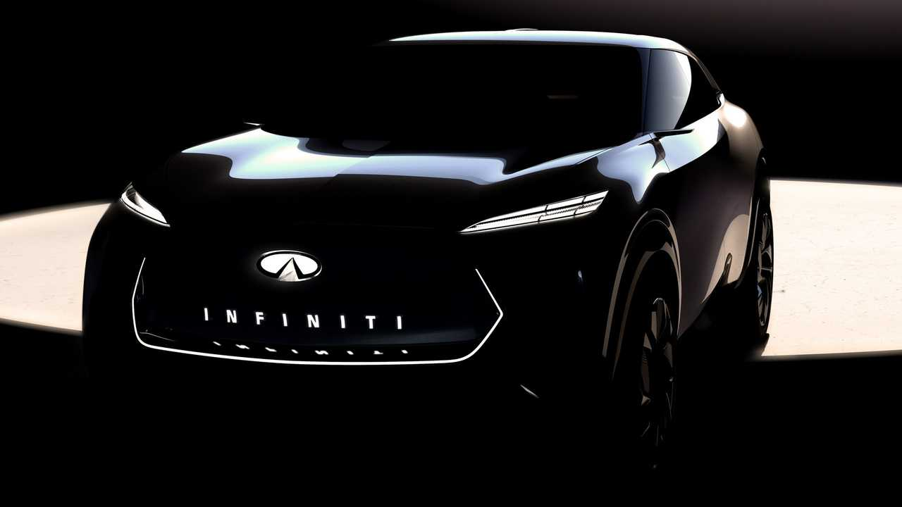 Infiniti electric crossover concept teaser