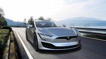 Tesla Model S der zweiten Generation gerendert