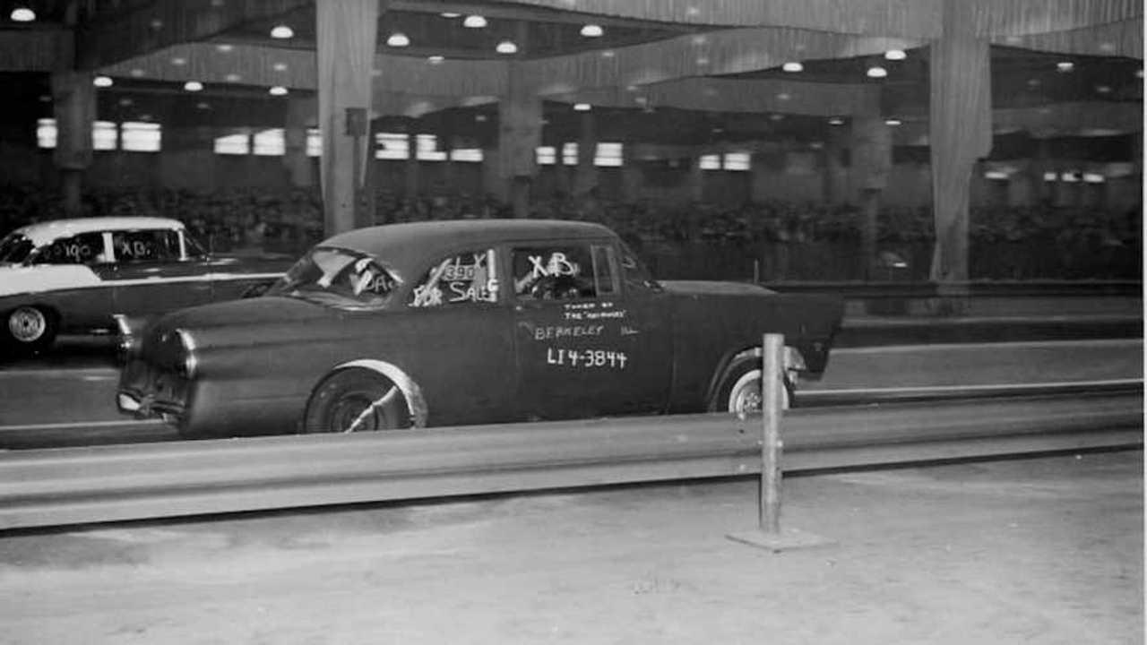 Chicago Indoor Drag Strip in the '60s