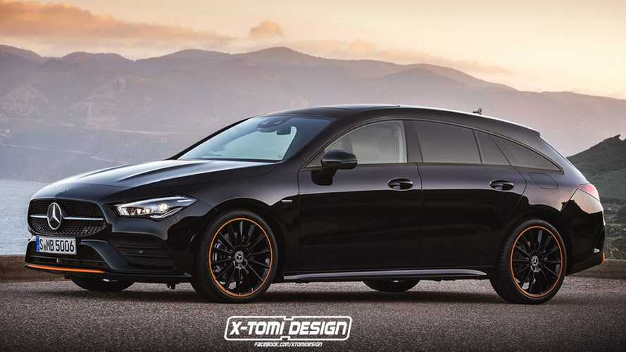 New Mercedes CLA Shooting Brake Realistically Rendered