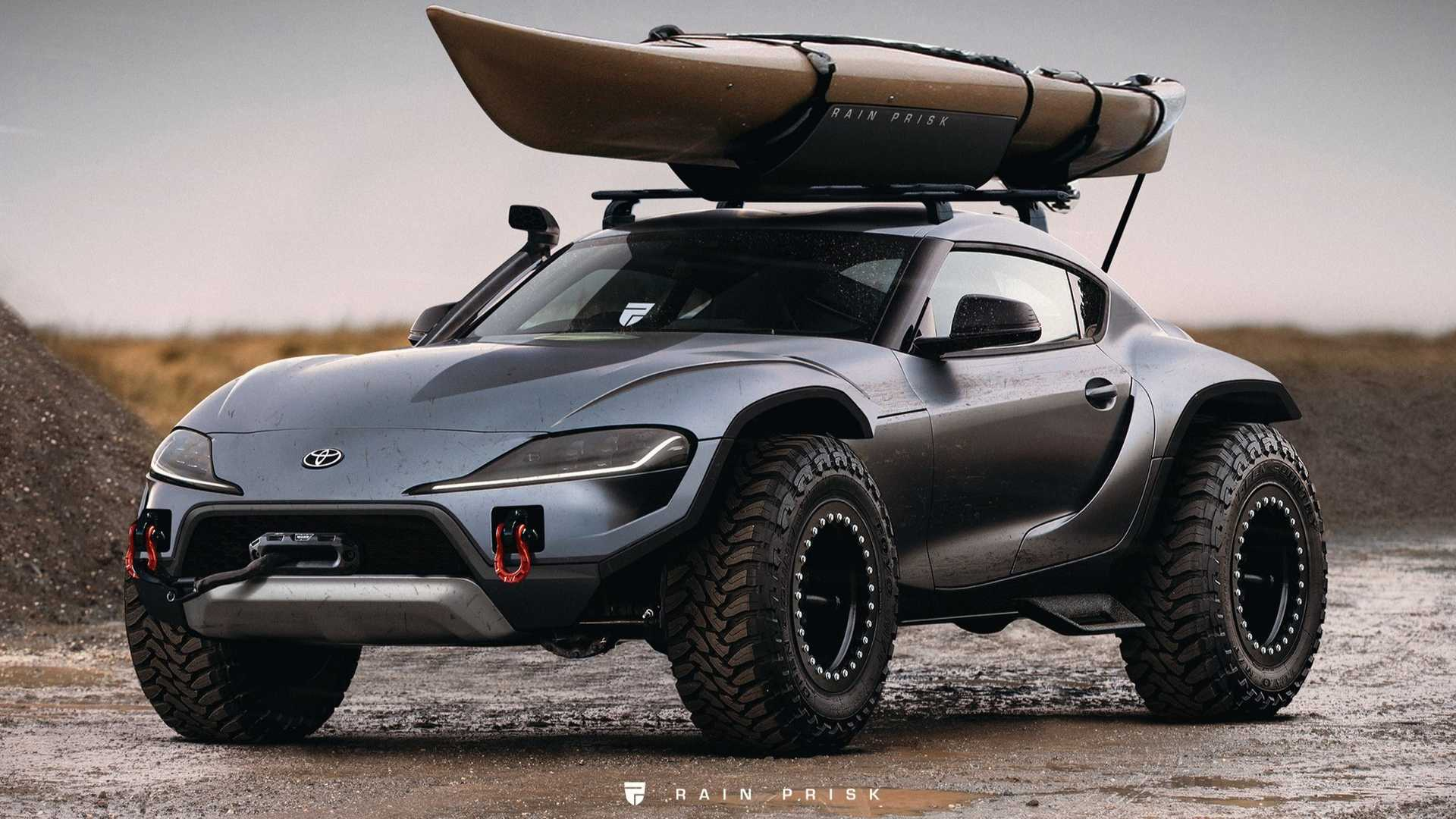 Lifted Toyota Supra Off Road Render Is So Wrong It S Right