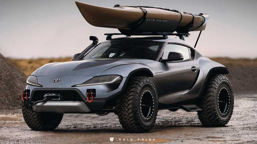 Toyota Supra Off-Road Rendering