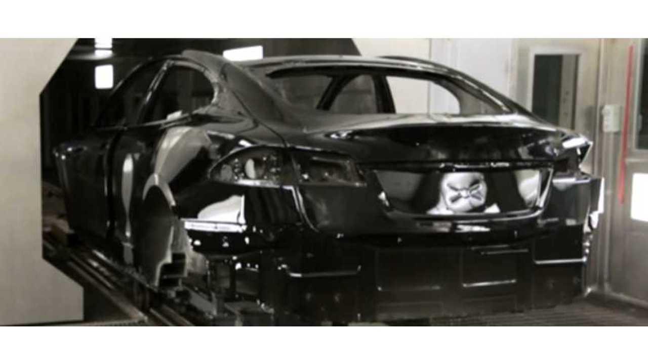 black painted Model S