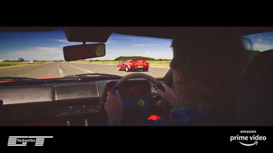 The Grand Tour Ferrari Vs Lamborghini Race