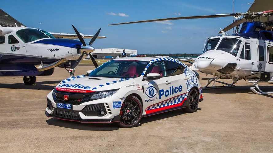 La Honda Civic Type R de la police australienne