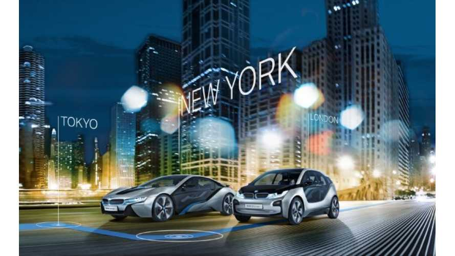 """BMW's """"Born Electric"""" Tour Showcases i3 and i8.  Makes Only Stop In US In NYC Next Month"""