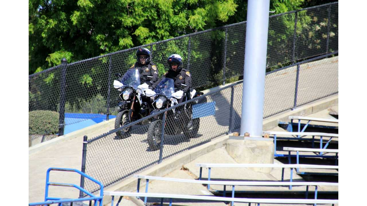 San Jose State University Campus Police Roll Out Their Zero DS Electric Motorcyles (w/video)