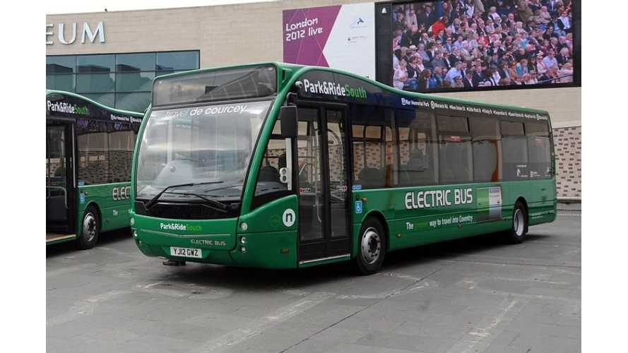 Robin Hood's City of Nottingham Adding 20 Electric Buses to Existing Fleet of 8 (w/video)