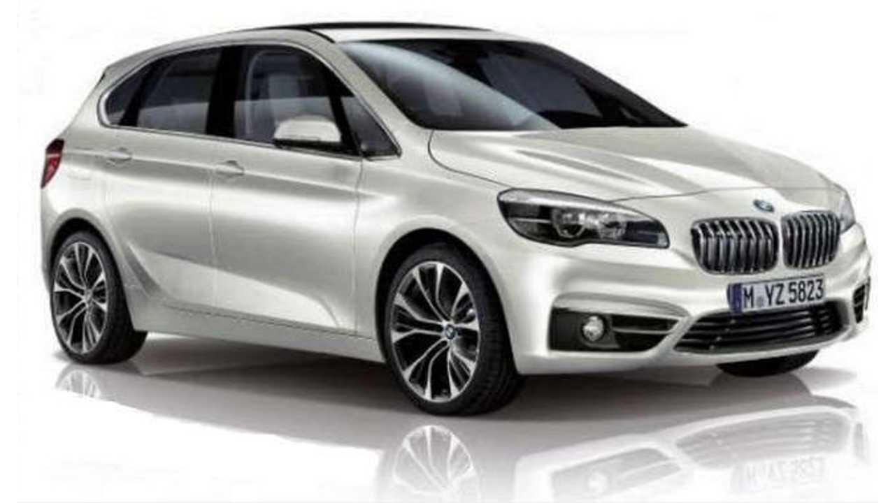 BMW 2 Series Active Tourer Image Leaks Out - PHEV Version Expected to Launch in 2015