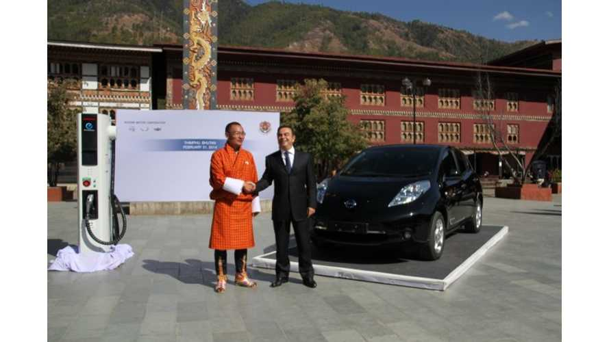 In Order To Sell Nissan LEAF in Volume in Bhutan, Its Price Must Be Reduced